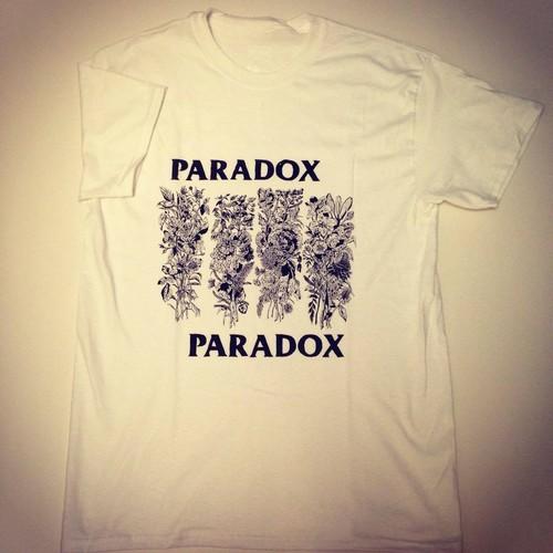 P flag T-shirts (White) Black print