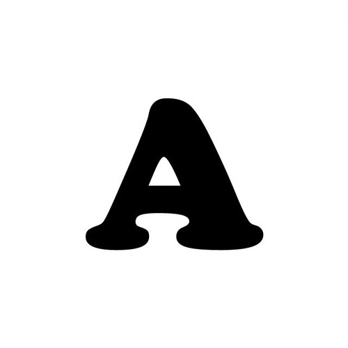 アルファベットA~Z(黒、Sサイズ、H50mm)