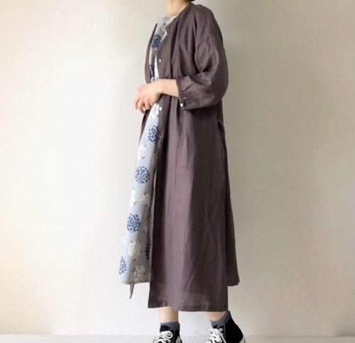 【新色追加】リボン付き 羽織りワンピース*シンプル無地