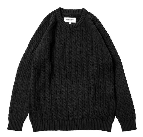 TIGHTBOOTH CABLE KNIT SWEATER BLACK L