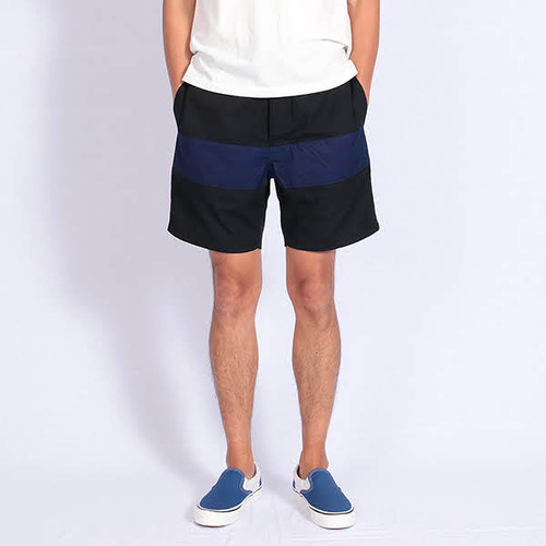 Short pants every day CENTER LINE INDIGO RIP Black/Indigo