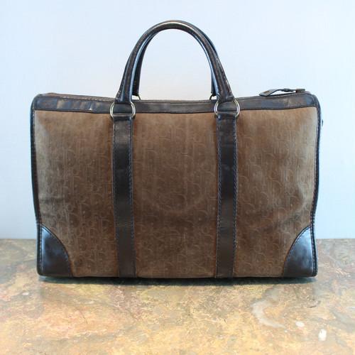 .Christian Dior TROTTER EMBOSSED LEATHER HAND BAG MADE IN FRANCE/クリスチャンディオールトロッター柄型押しレザーハンドバッグ 2000000035628