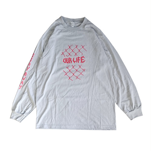 OURLIFE - FENCED IN L/S TEE (Silver)