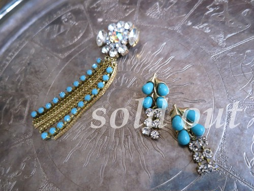 vintage pierced earrings TRIFARI <PE-TRTQ2>