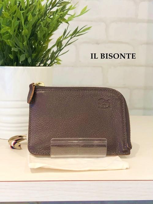 IL BISONTE/ガマ口三つ折り財布/4540(焦げ茶)