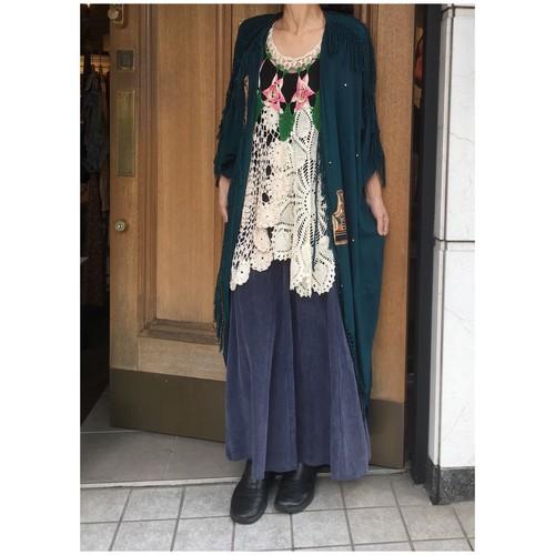 Vintage fringe semi-long gown