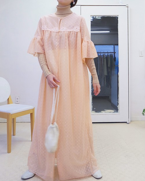 70s see-through dress