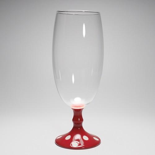 ビールグラス (水玉赤) 20-408