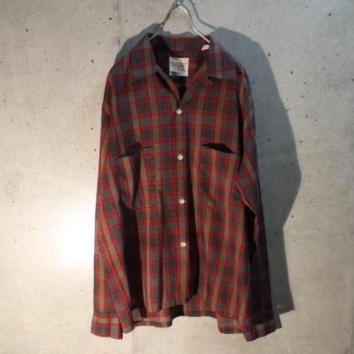 70s poly cotton check shirt