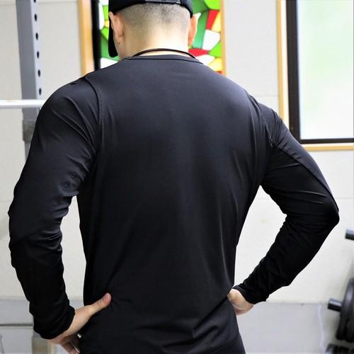 10FIT ロングスリーブTシャツ トレーニング 筋トレ ボディビル メンズ TE-09 黒