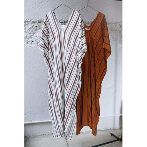 【DOMENICO+SAVIO】STRIPE KAFTAN DRESS