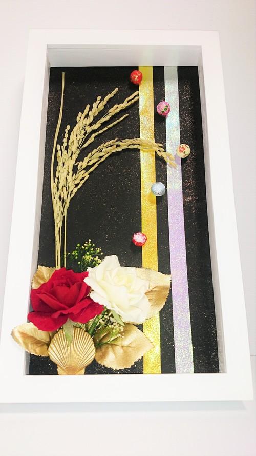 花いずもの和雅   (フレームアート①:壁掛:縦型)