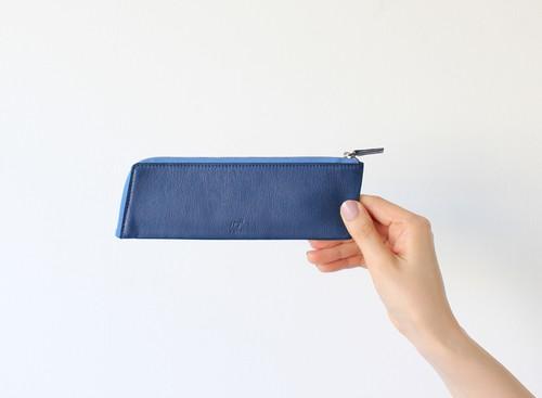 10° ペンケース(藍染・牛革)筆箱