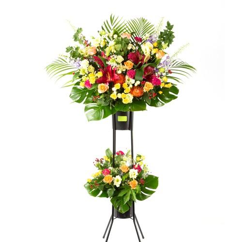スタンド花 2段 お任せ 大阪市内無料配送エリアあり 祝い花