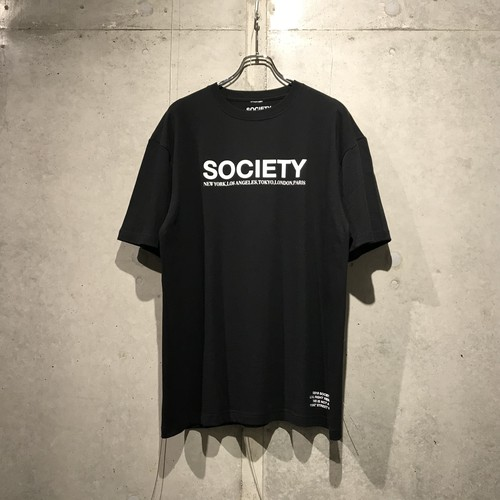 THE SOCIETY LOGO T-SHIRT / BLACK