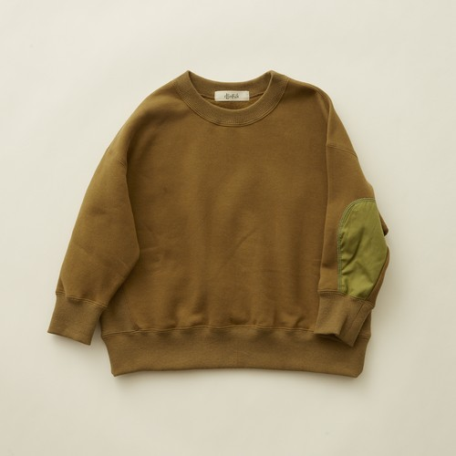《eLfinFolk 2020AW》big sweat shirts / olive / 90-100cm
