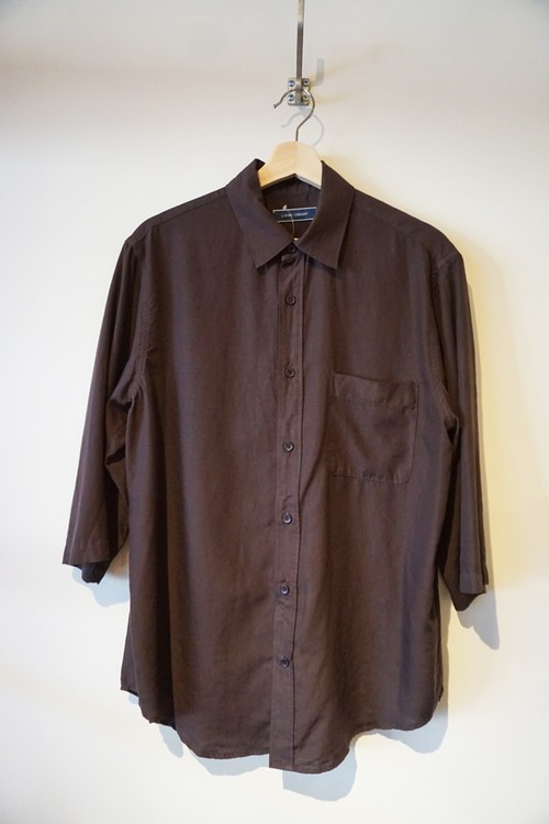 BOTANICAL DYE HALF SLEEVE SHIRT[ CHARCOAL ]