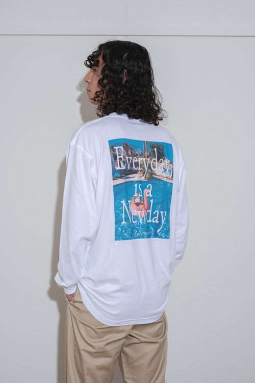 """【9/8(WED)20:00販売開始】""""Vacation"""" Photo L/S TEE (white)"""