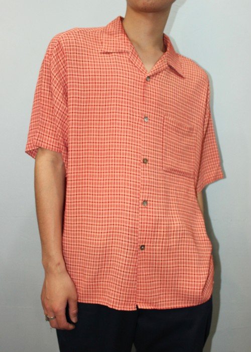 """""""Linea Dome"""" S/S Open Collar Shirt (Made in USA)"""