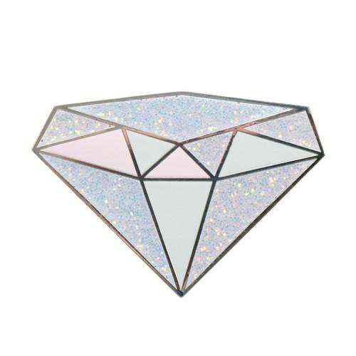 バースストーン ピンバッチ 誕生石4月Diamond