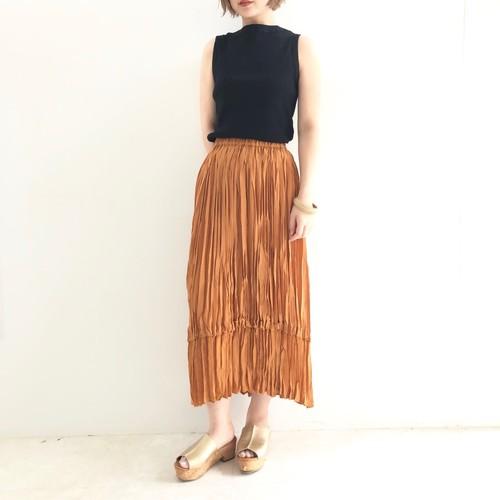 【 Chignonstar 】- 2191-320 - ワッシャープリーツスカート