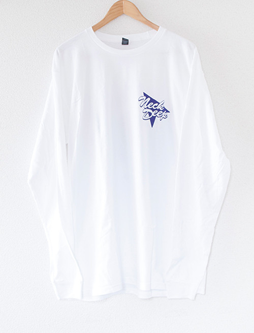 【NECK DEEP】Retro Sign Long Sleeve (White)