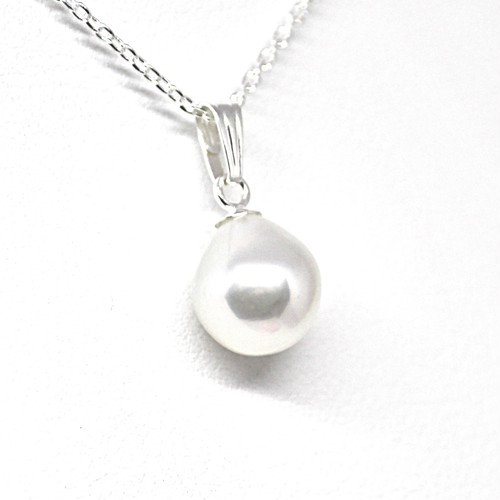 あこや本真珠のしずくのネックレスZ