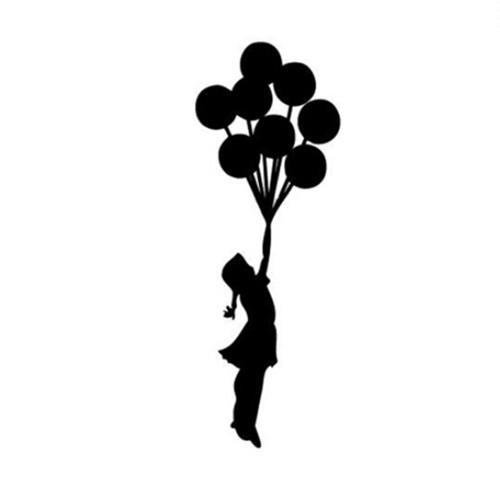 ウォールアートステッカー Banksy 【並行輸入品】 風船の少女