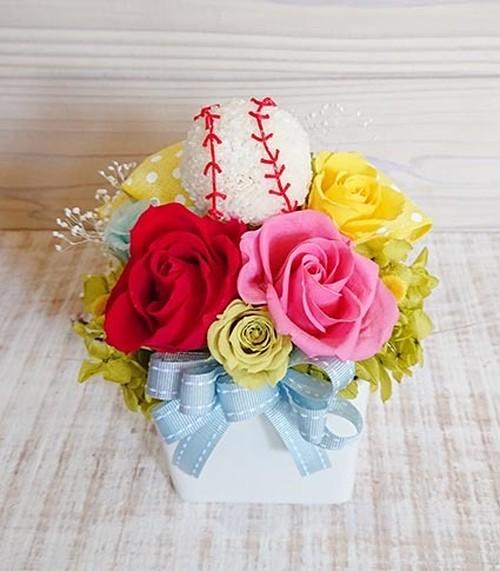 野球ボールのアレンジメント(陶器の器)