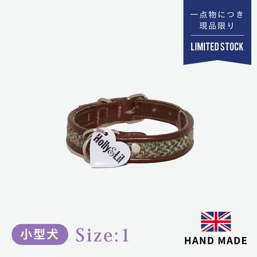 ホリー&リル ハリスツイード ブラウン カラー(首輪) size1