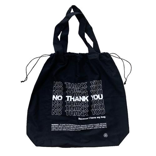 【Cat & Parfum】NO THANK YOU 2Way Drawstring Bag