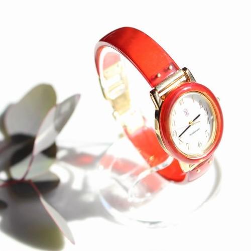 本べっ甲赤染め腕時計
