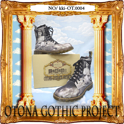kki-OT.0004  OTONA Gothic project Printed Boots<火刑のジャンヌダルク/Joan of Arc at the stake>