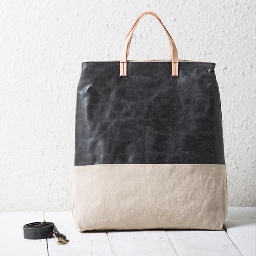 Bag Handbag Vintage Tote PU Leather Canvas Bag トートバッグ レザー ハンドバッグ ビンテージ (YYB99-3293818)