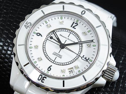 マウロジェラルディ 腕時計 セラミック メンズ MJ014G-1  ホワイト