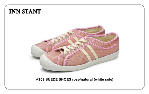 #303 SUEDE SHOES rose/natural (white sole) INN-STANT インスタント