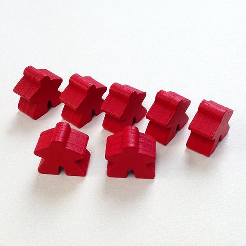 赤 木製 人型駒(約75個)