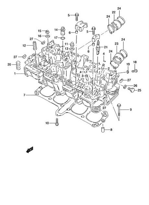 1-2: CYLINDER HEAD ASSI