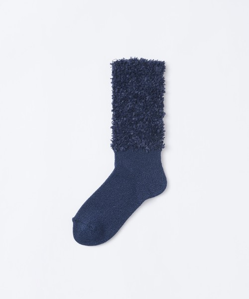 【TRICOTÉ】PAPER BRAID YARN SOCKS:ネイビー