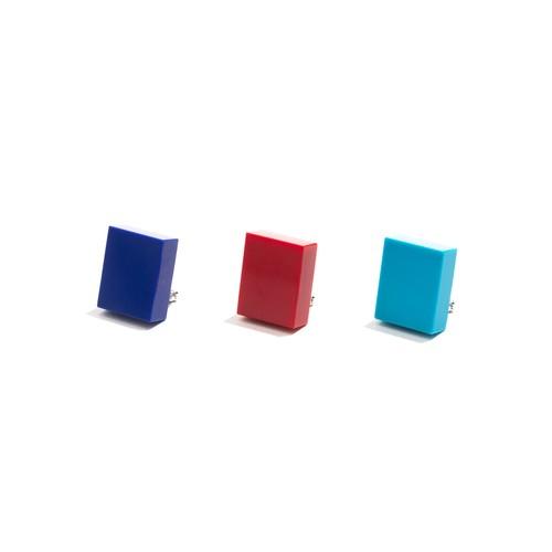 模造石イヤリング/長方形