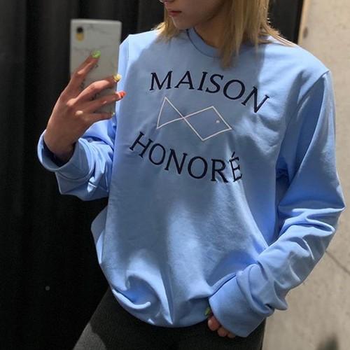 MAISON HONORE(メゾンオノレ)プルオーバー[MOUNIR] ブルー スウェット