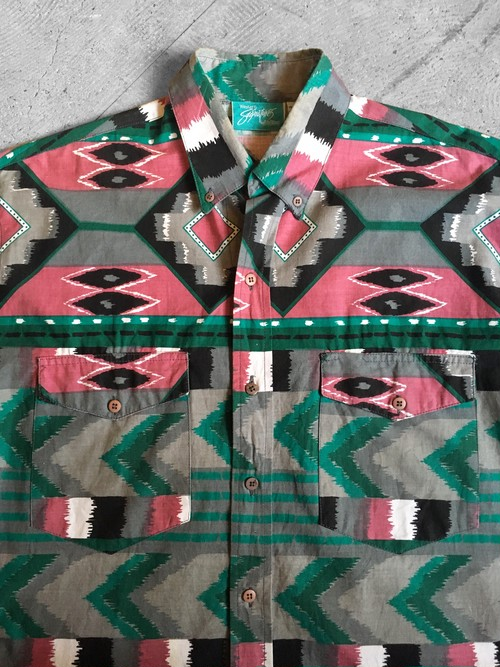 crazy color patterned shirt