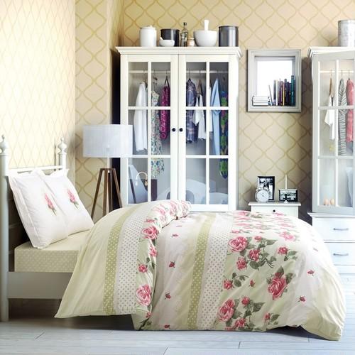 トルコ製 シングル ベッドカバー 3点セット BONITA グリーン