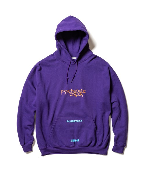 """Supper"" HOODIE  PURPLE  19AW-FS-40"