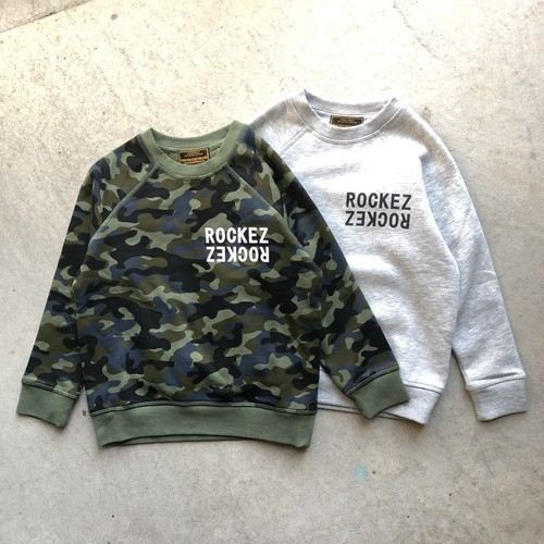 "【KID'S】ROCKEZ ""Double Logo"" Ruglan Crew Sweat"