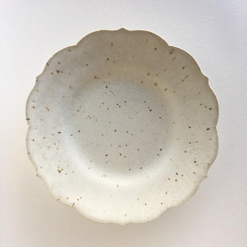 薔薇のお皿(大)(結晶白) ★Webshop特別価格