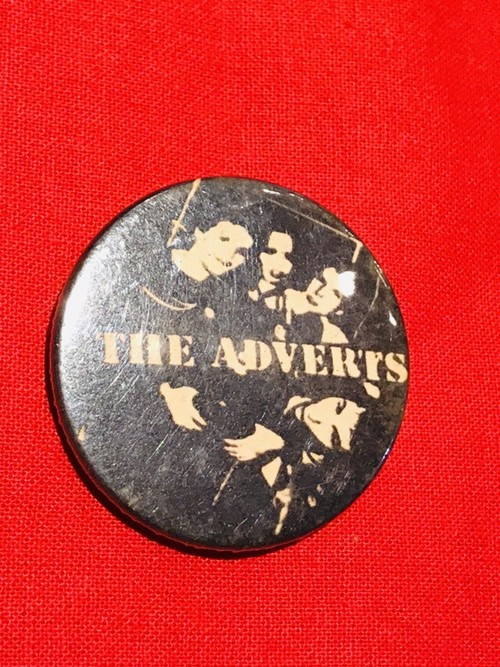 70's THE ADVERTS Vintage Badge