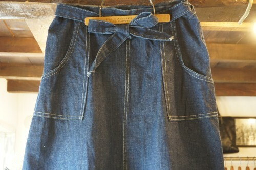 70's denim wrap around Skirt