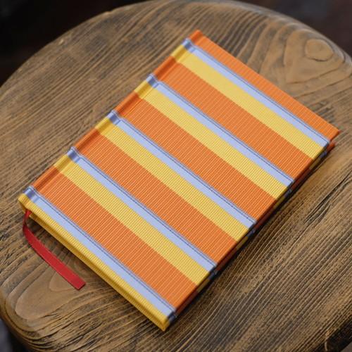 罫線 フランス製 オレンジネクタイ A6Colorisノート ポータブルサイズ