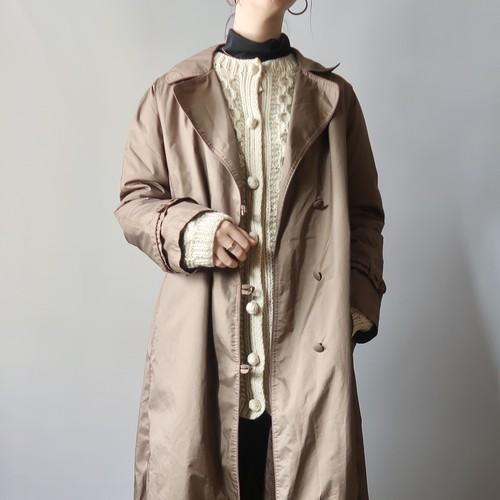 Brown long nylon coat